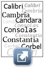 Kostenlos Schrift Calabri Cambria Candara Consolas Constantia Corbel gratis download